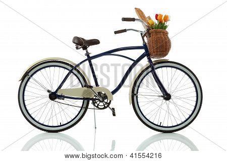 Beach cruiser with basket