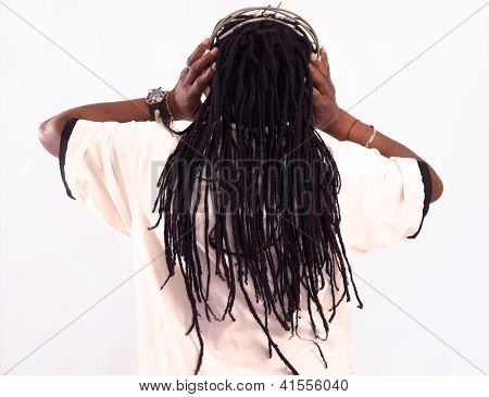 Rastaman With Headphones