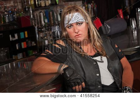 Tough Female Gang Member