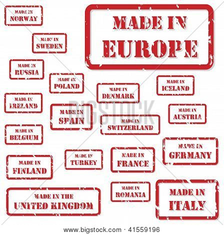 Made In Europe Stamps