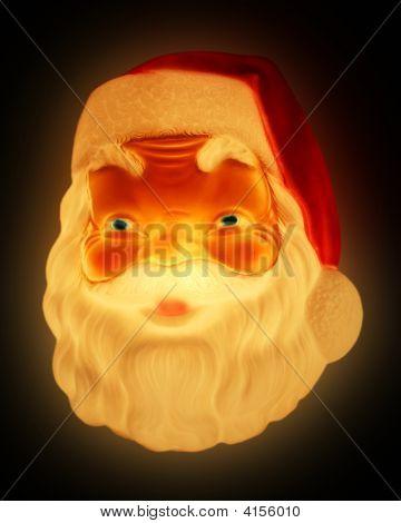 A Glowing Santa