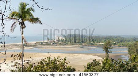 Estuary In Goa State, India