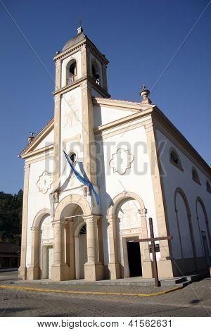 Nossa Senhora de Lourdes church built in 1876 in Nova Trento, Santa Catarina, Brazil