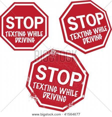 Dejar mensajes de texto mientras se conduce seguridad gráficos