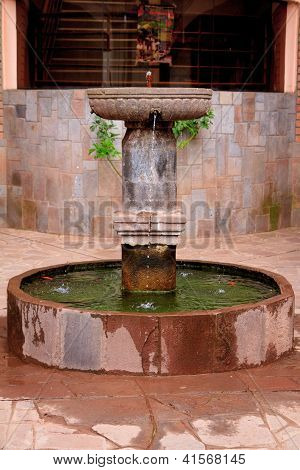 Old Inca style Water fountain in Peru