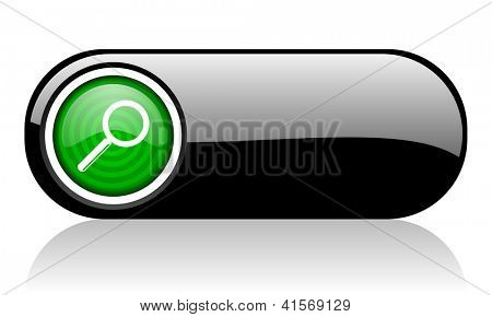 search black and green web icon on white background