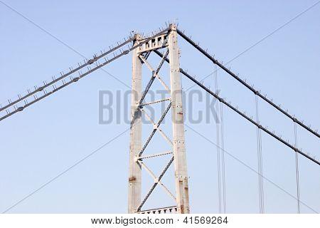 Hercilio Luz Bridge part in Florianopis, Santa Catarina, Brazil.