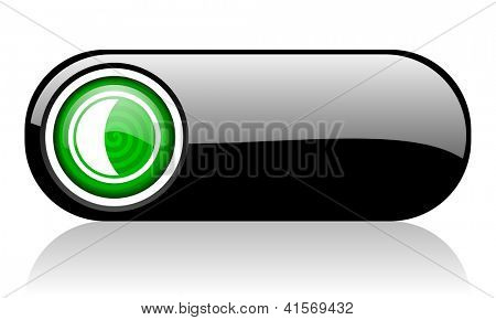 moon black and green web icon on white background