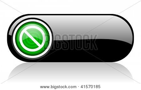 access denied black and green web icon on white background