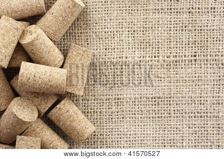 Photo of Corks and sisal background