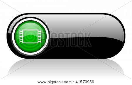 movie black and green web icon on white background