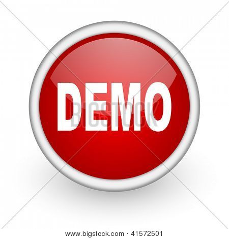 demo red circle web icon on white background