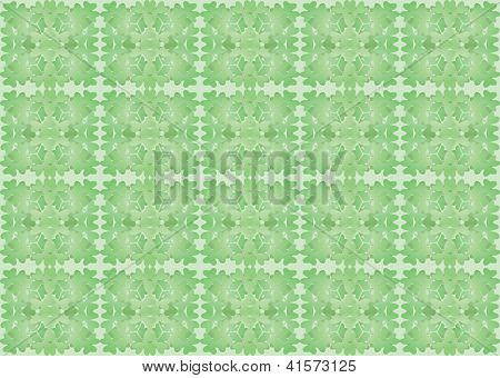 Pattern Made Of Shamrock Leaves