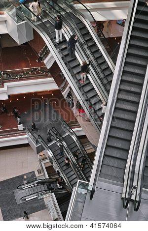 Escalator Inside Shopping Mall