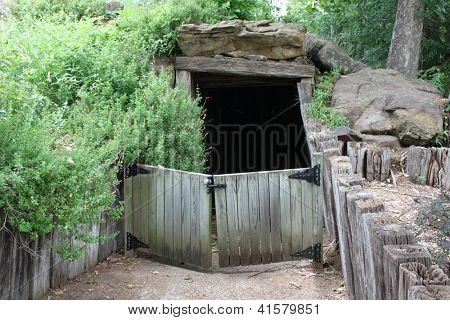 Dirt dugout house