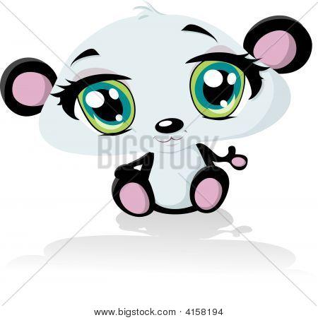 Anime Baby Panda Bear