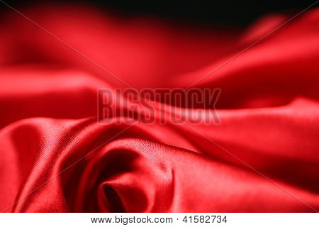 Red satin abstract swirls