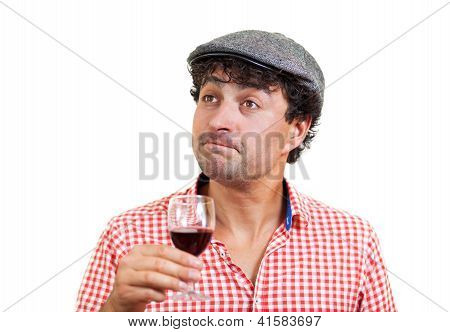 French Man Tasting Some Wine
