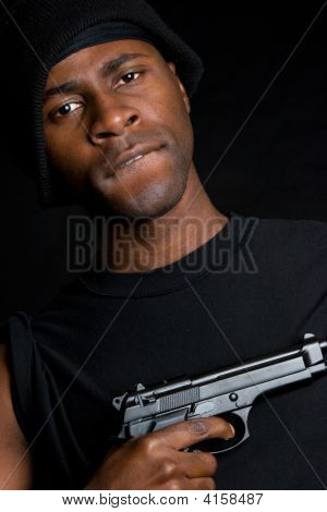Gangbanger With Gun