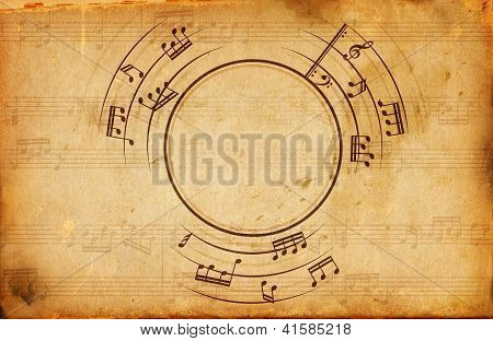 Musical Notes Frame