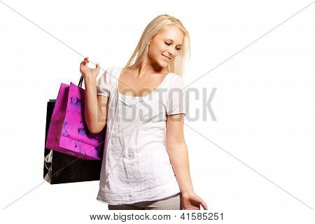 Pretty Woman On A Shopping Spree