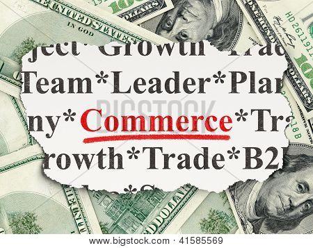Finance concept: Commerce on Money