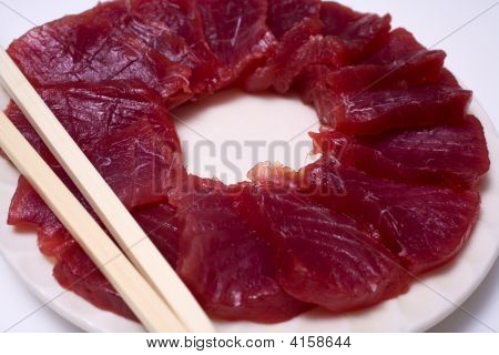 A Plate Of Ahi Sashimi