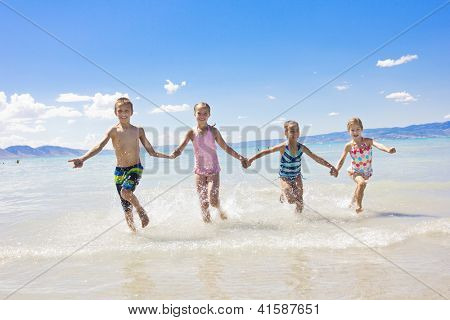 Kids on vacation at the Beach