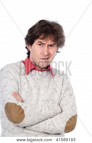 Man With Silly Facial Expression