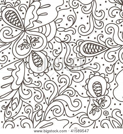Abstract Hand Drawn Pattern.