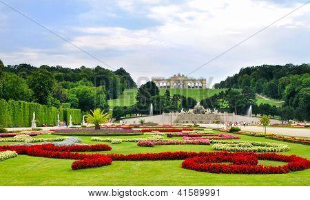 Gardens at Schonbrunn Palace Vienna