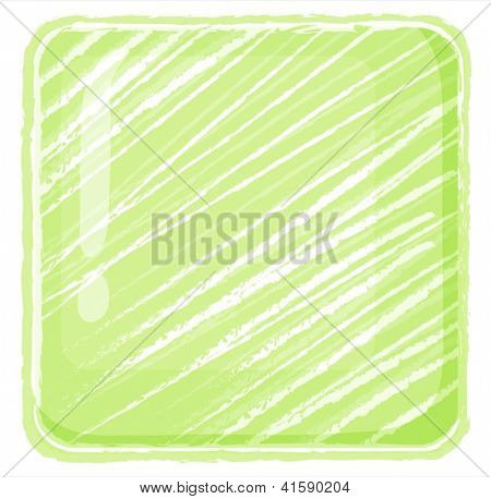 Illustration of a yellow green abstract on a white background