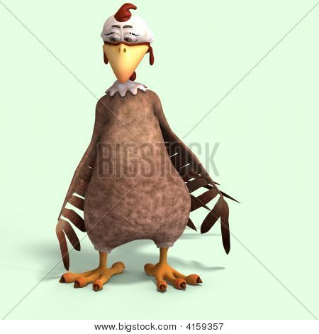 Crazy Cartoon Chicken