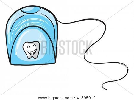 Illustration of a dental floss on white