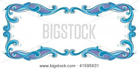 Illustration of a blue and violet border on a white background