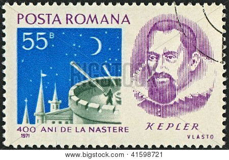 ROMANIA - CIRCA 1971: Postage stamps dedicated to Johannes Kepler (1571 - 1630), German mathematician, astronomer and astrologer, circa 1971.