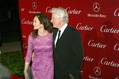PALM SPRINGS, CA - 5 de enero: Diane Lane y Richard Gere llegar en 2013 Palm Springs International