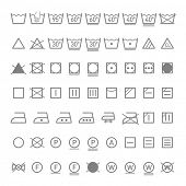 stock photo of laundry  - Laundry symbols - JPG