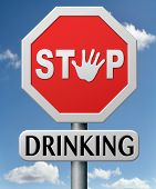 stock photo of alcohol abuse  - stop drinking and alcohol abuse dependence and addiction to drug create problems - JPG