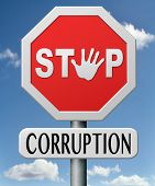 image of corruption  - stop corruption and bribery political or police can be corrupt - JPG