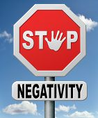 stock photo of positive negative  - stop negativity and pessimism pessimistic thoughts dont think negative but positive and optimistic thinking makes you happy - JPG