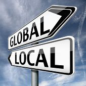 stock photo of international trade  - global or local national or international impact services business or world market economic globalization - JPG