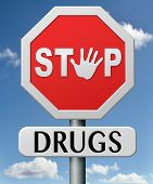 stock photo of addict  - drug abuse and addiction stop addict by rehabilitation in rehab center no drugs - JPG