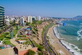 image of ancient civilization  - Aerial view of Miraflores Park - JPG