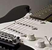 stock photo of stratocaster  - close - JPG
