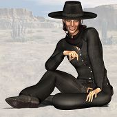 stock photo of vaquero  - oooWild West Series with Cowboys Indians Good and Bad Guys