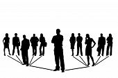 foto of person silhouette  - Network team of people on white background - JPG