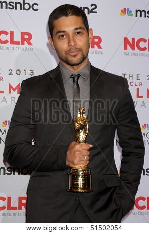 LOS ANGELES - SEP 27:  Wilmer Valderrama at the 2013 ALMA Awards - Press Room at Pasadena Civic Auditorium on September 27, 2013 in Pasadena, CA