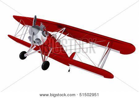 Biplane Isolated on White