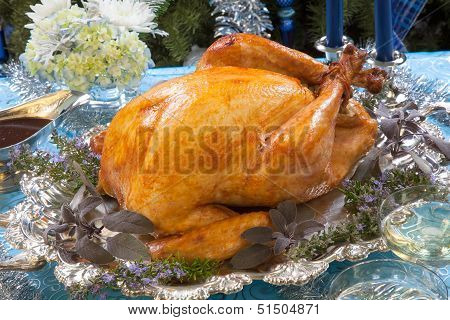 Roasted Turkey For White Christmas